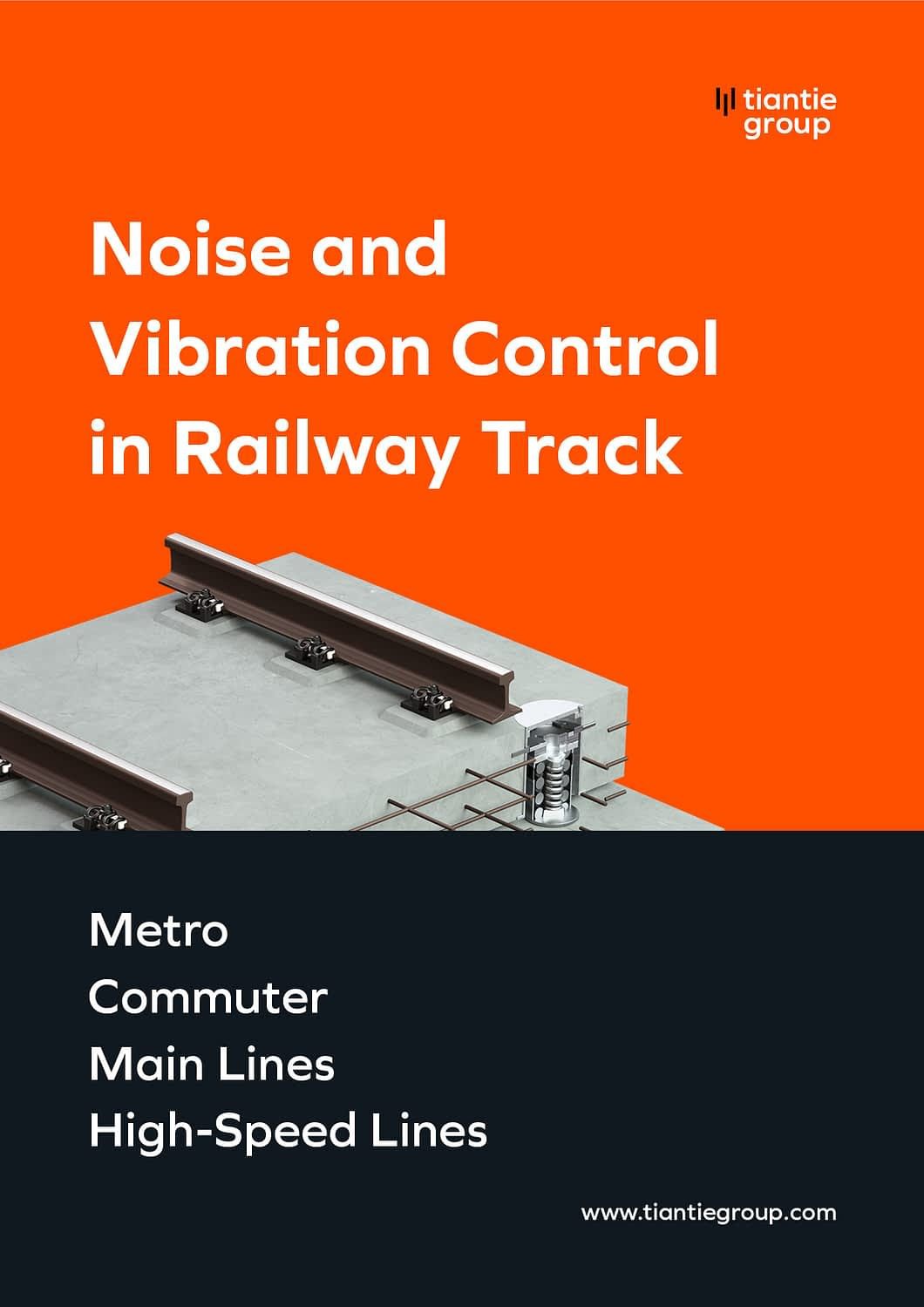 Zhejiang Tiantie Industry Co_Brochure_Noise-and-Vibration-Control-in-Railway-Track_Cover